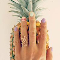 """Ring """"Woven Pineapple"""" (14K gold filled or Sterling Silver) Hawaiian jewelry, Island style, Tropical, Beachy, Handmade with Aloha in Hawaii"""
