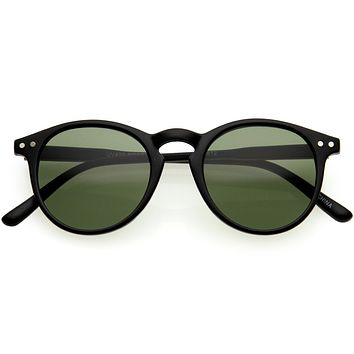 Kids P3 Keyhole Neutral Colored Lens Retro Horn Rimmed Sunglasses D146