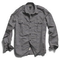 Selvedge Military Shirt in Grey Heather