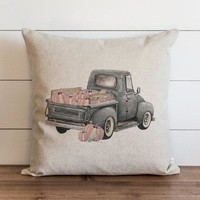Fall Truck Pillow Cover 1