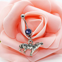 Belly button ring,Bear belly rings,Bear belly button jewelry