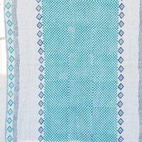India Artisan Stamped Beach Blanket Tapestry Throw
