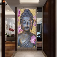 New ! Abstract Printed Hotoke Buddhism Buddha Painting Picture Cuadros Decor Buda Canvas Art For Bed Room No framed  F1641