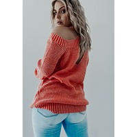 Lost In Sunshine Sweater: Dusty Orange