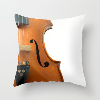 Musical Instruments Pillow Cover Fine Art Photography Print Polyester Home Decor Accent Pillow Cases Cushion Cover Violin Guitar