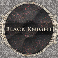 BLACK KNIGHT Mineral Eyeshadow: 5g Sifter Jar, Charcoal with Red Highlight, VEGAN Cosmetics, Shimmer Eye Shadow