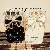 Bow samsung galaxy S3 case samsung i9300 case Bling Cases Samsung Galaxy S III Case i9300 cover handmade, case for sumsang
