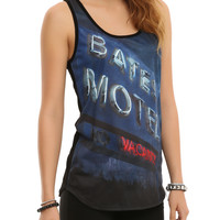 Bates Motel Neon Sign Girls Tank Top