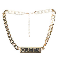 Queen Gold Chain Necklace