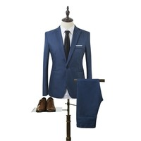 Woweile#5001 2017 Business and Leisure Suit A Two-piece Suit The Groom's Best Man Wedding
