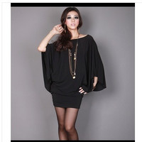 New Arrival Big Size Summer Women's Plus Size T-shirt Plus Size Pure Color Loose Style XL to 4XL HT632 = 1958513860