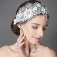 New Elegant Birdcage Wedding Birdcage Veils Beading Flowers Net Bridal Veils Headpiece Wedding Veils Hair Accessories