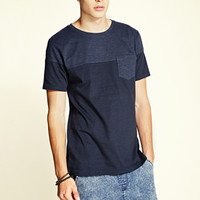 Striped Pocket Tee Navy/Black