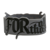 For All Those Sleeping Die-Cut Logo Rubber Bracelet