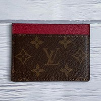 LV Louis Vuitton New Product Printed Letter Card Case Key Bag #4