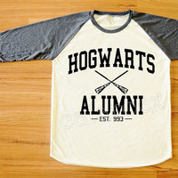Hogwarts Alumni T-Shirt Harry Potter T-Shirt Stone T-Shirt Long Sleeve Tee Shirt Women Shirt Men Shirt Unisex Shirt Baseball Tee Shirt S,M,L