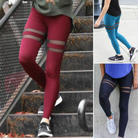 Ladies Mesh Fashion Workout Leggings