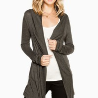 ShopSosie Style : Lucie Cardigan in Charcoal