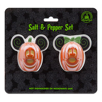 Disney Parks Mickey and Minnie Mouse Halloween Salt & Pepper Set New with Box