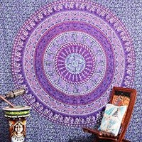 Indian Purple Mandala Tapestry , Indian Hippie Wall Hanging , Bohemian Wall Hanging, Ethnic Decorative Art