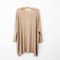 new style loose bat  and a thin knit sweater from ClothLess