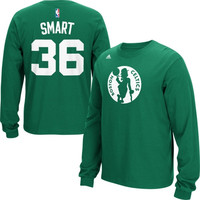 Marcus Smart Boston Celtics adidas Name & Number Long Sleeve T-Shirt – Green