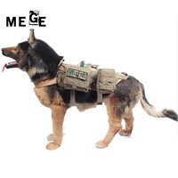 MEGE Dog Jacket With MOLLE EMT First Aid Pouch, Tactical Dog Training Molle Vest Harness Military Load Bearing Hunting SWAT