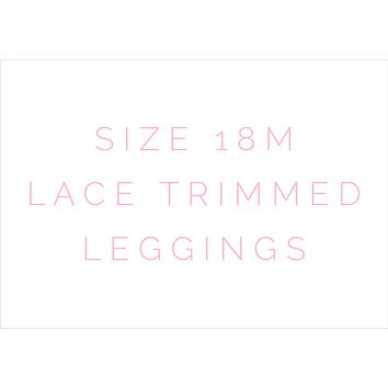 Size 18m Solid Lace Trimmed Leggings