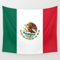 The Mexican national flag - Authentic high quality file Wall Tapestry by Bruce Stanfield