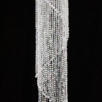 Chandelier Spiral Faux Crystal Beaded Hanging Light great idea for Wedding Chandeliers Centerpieces Decorations and any Event Party Decor (Clear)