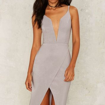 Rare London Combined Forces Plunging Dress