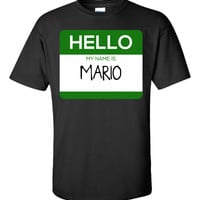 Hello My Name Is MARIO v1-Unisex Tshirt