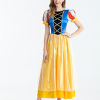 MOONIGHT Adult Snow White Costume Sexy Snow White Cosplay Fantasia Halloween Costumes For Women Princess Fancy Dress