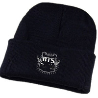 K-POP BTS SUGA Cap Knit Beanie Hat J-HOPE JIN  Adjustable Snapback fitted constellation Hat = 1958122436