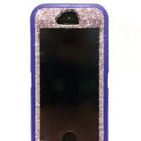 iPhone 5/5s Otterbox Case Glitter Cute Sparkly Bling Defender Series Custom Case Purple Sapphire / Purple