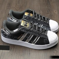 Adidas Superstar Fashion Winter Suede Gray Sneakers