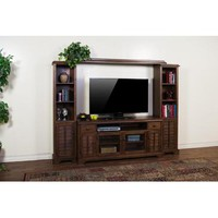 Sunny Designs Savannah Entertainment Wall In Antique Charcoal