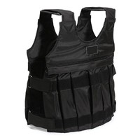 Hot Sale 110LBS/50KG Weighted Vest For Boxing Training Equipment Adjustable Exercise Black Jacket Swat Sanda Sparring Protect