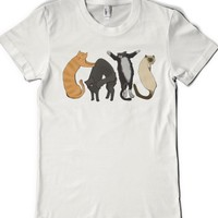 Cats In Cats-Female White T-Shirt L  