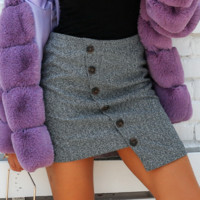 Autumn and winter new women's temperament herringbone asymmetric skirt hot short skirt
