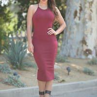 Caitlyn Dress - Burgundy