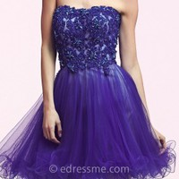 Lace Applique Homecoming Dresses by Mac Duggal