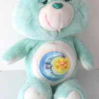 Care Bears Bedtime Bear / Sleepy Bear Stuffed Toy Plush Kenner 1980s Vintage