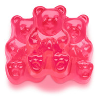 Pink Strawberry Gummy Bears: 5LB Bag