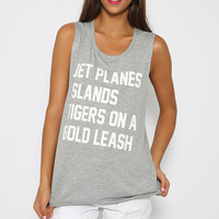 Private Party - Jet Planes Tank - Grey