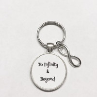 Infinity To Infinity And Beyond, Wedding, His And Hers, Couples Gift Keychain