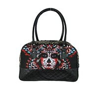 LiquorBrand Butterfly Day of the Dead Tattoo Rockabilly Punk Weekender Overnight bag