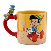 Disney Store 25th Anniversary Pinocchio and Jiminey Cricket Mug / Cup