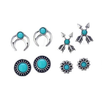 Mix & Match Totems Four Piece Earring Ensemble