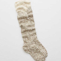 Aerie Mix Over-the-Knee Socks, Brown